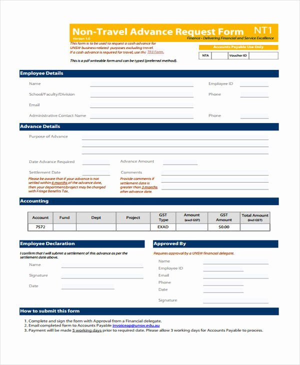 Travel Request form Template Inspirational Free 33 Travel Request form In Templates