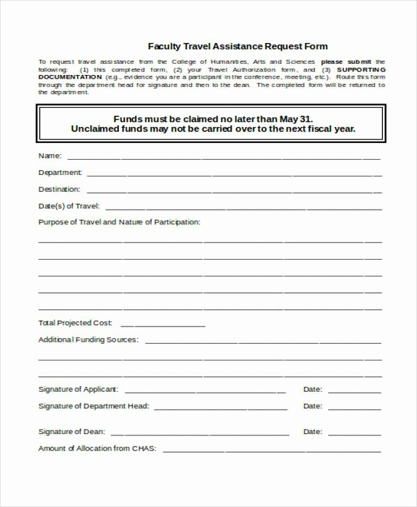 Travel Request form Template New Free 33 Travel Request form In Templates