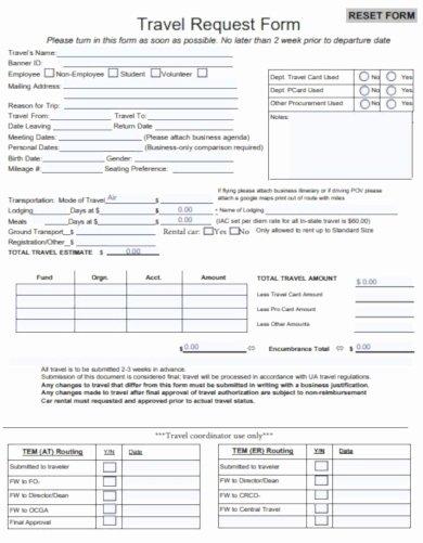 Travel Request form Template Unique 9 Travel Request form Templates Pdf Docx