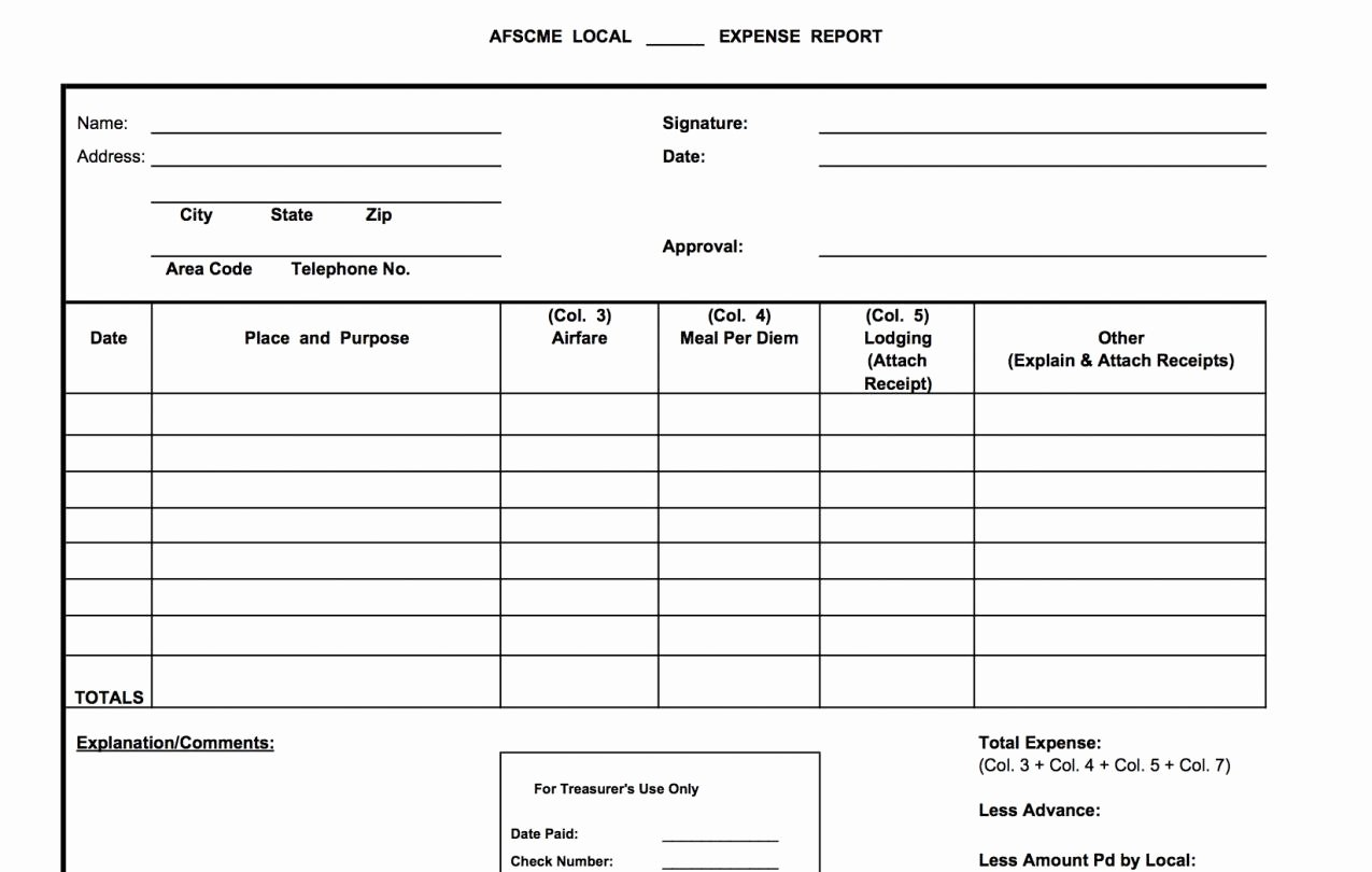 Treasurer Report Template Excel Unique forms