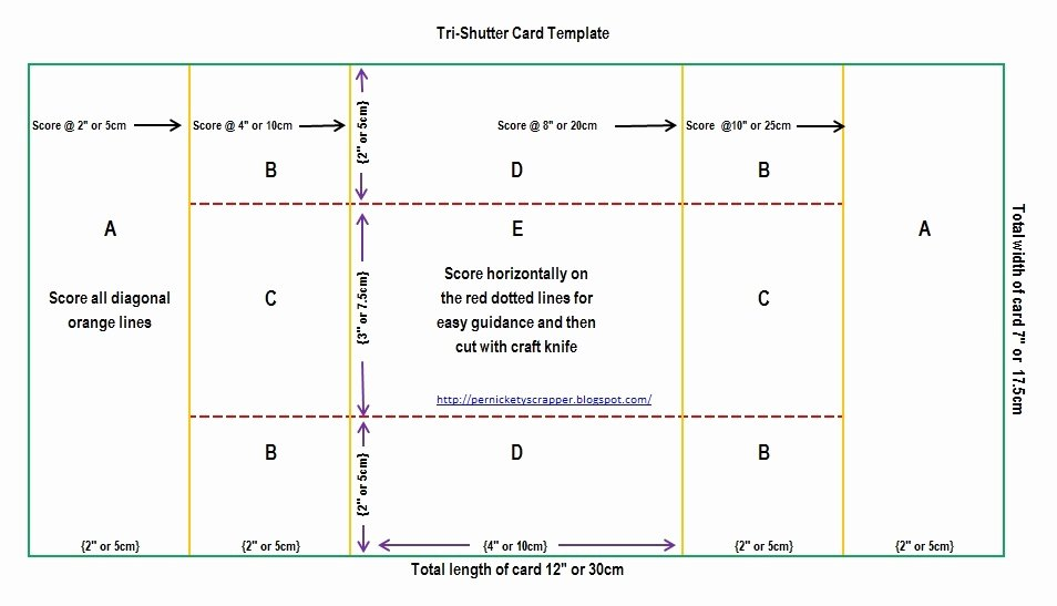 Tri Fold Card Templates Awesome the Per S Nickety Scrapper Tri Shutter Card Templates and