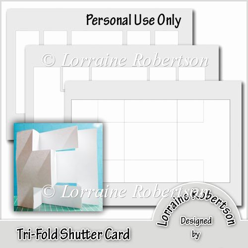 Tri Fold Card Templates Awesome Tri Fold Shutter Card Template £1 20 Instant Card