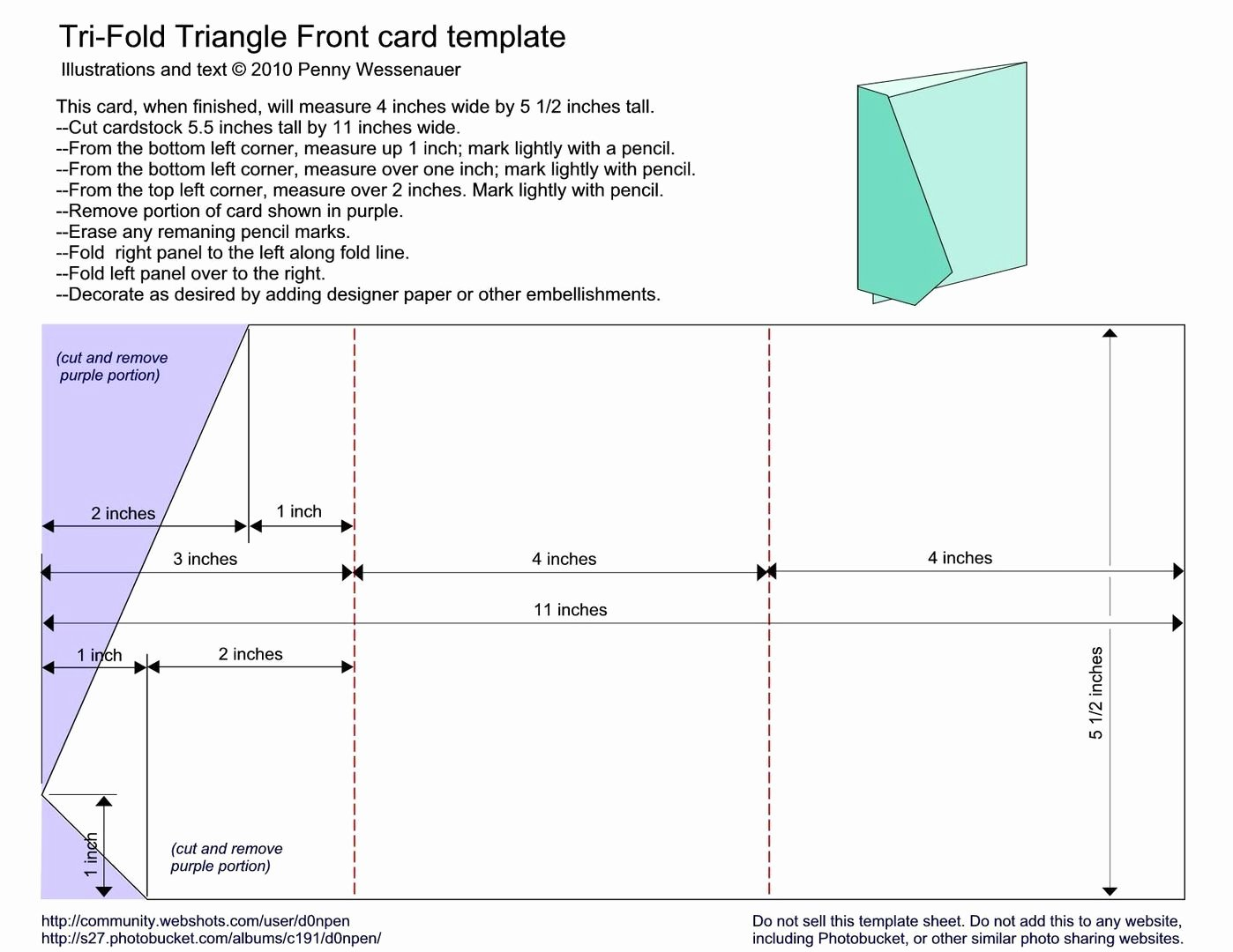 Tri Fold Card Templates Beautiful Trifold Triangle Front by D0npen