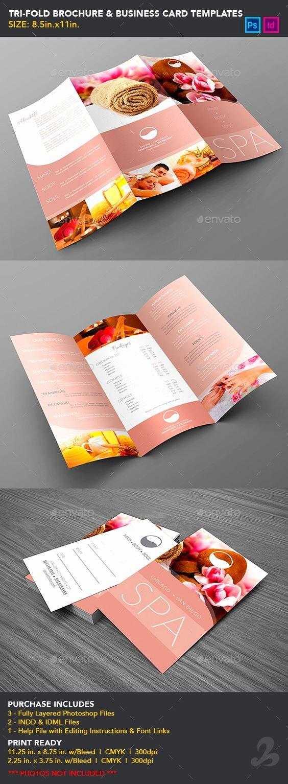 Tri Fold Card Templates Best Of Tri Fold Brochure & Business Card Templates Spa
