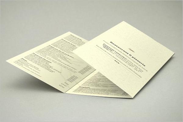 Tri Fold Card Templates Best Of Tri Fold Menu Card Template