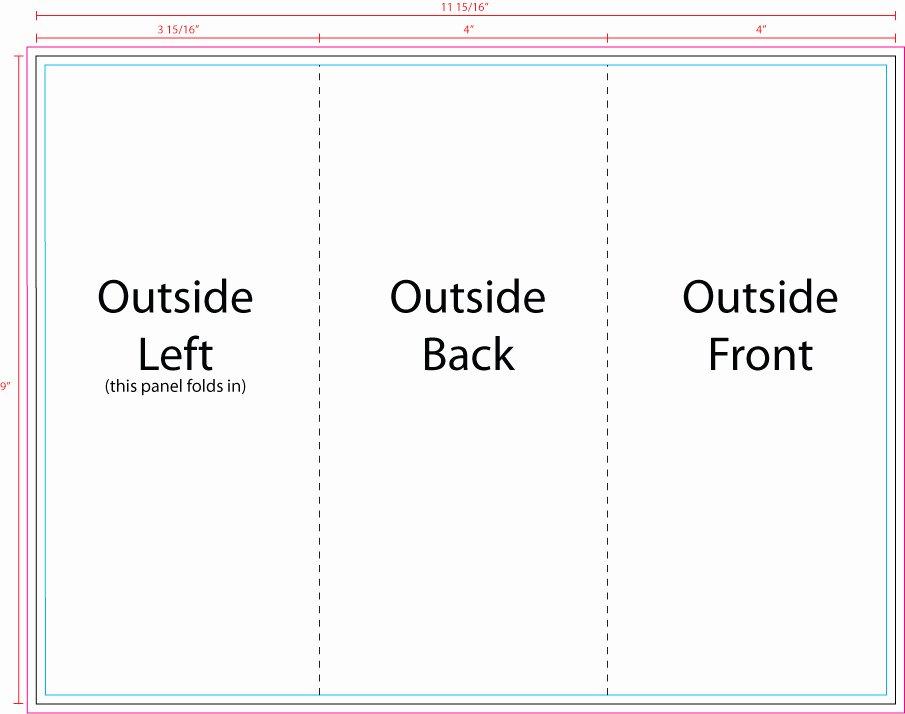 Tri Fold Card Templates Best Of Us Press Templates 12 X 9 Tri Fold Outside
