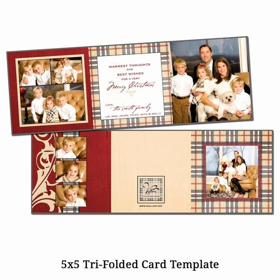 "Tri Fold Card Templates Luxury Items Similar to 5x5"" Tri Fold Christmas Card Template"