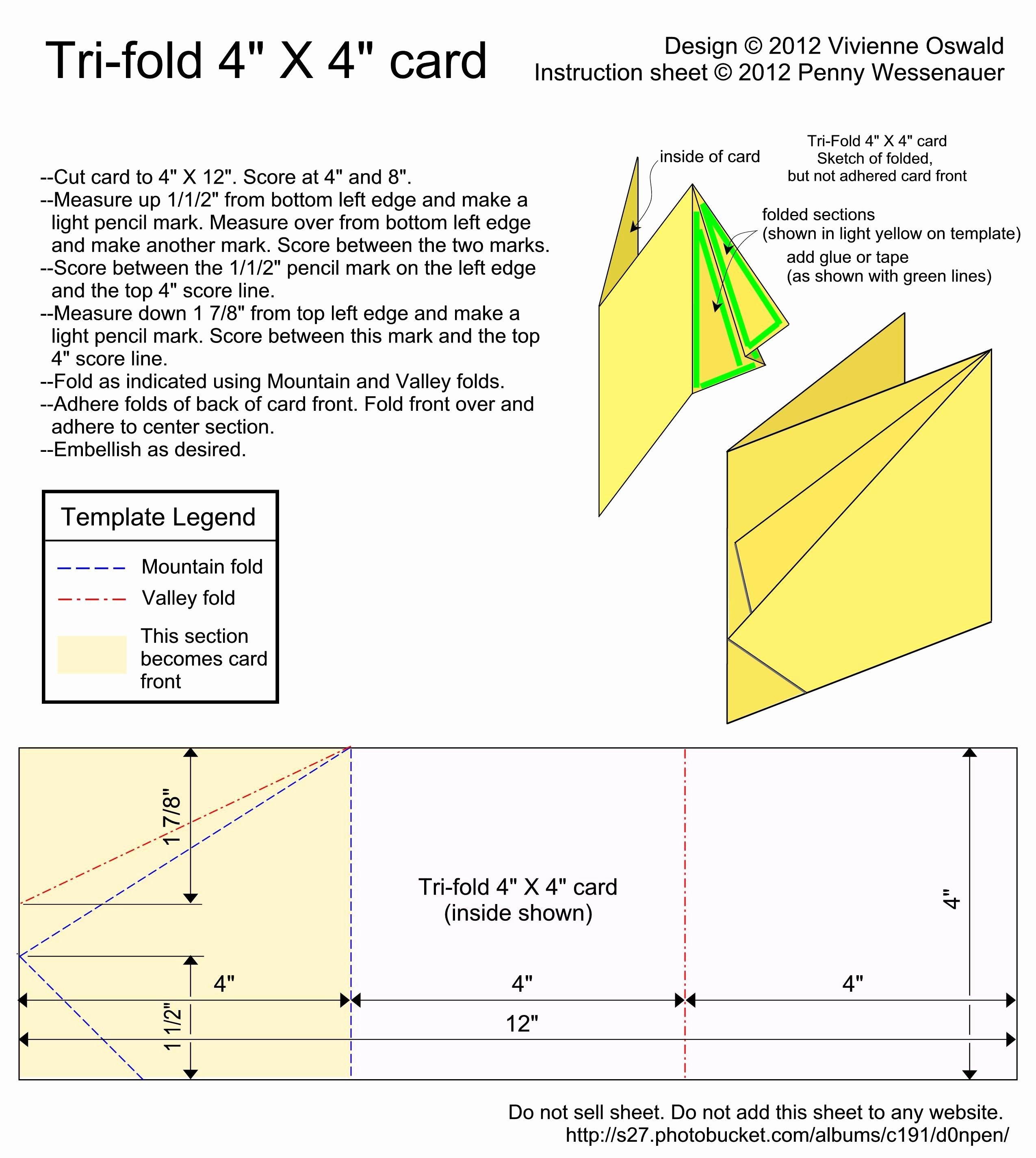 Tri Fold Card Templates Unique Card Templates Tri Fold 4x4 Card Image by D0npen