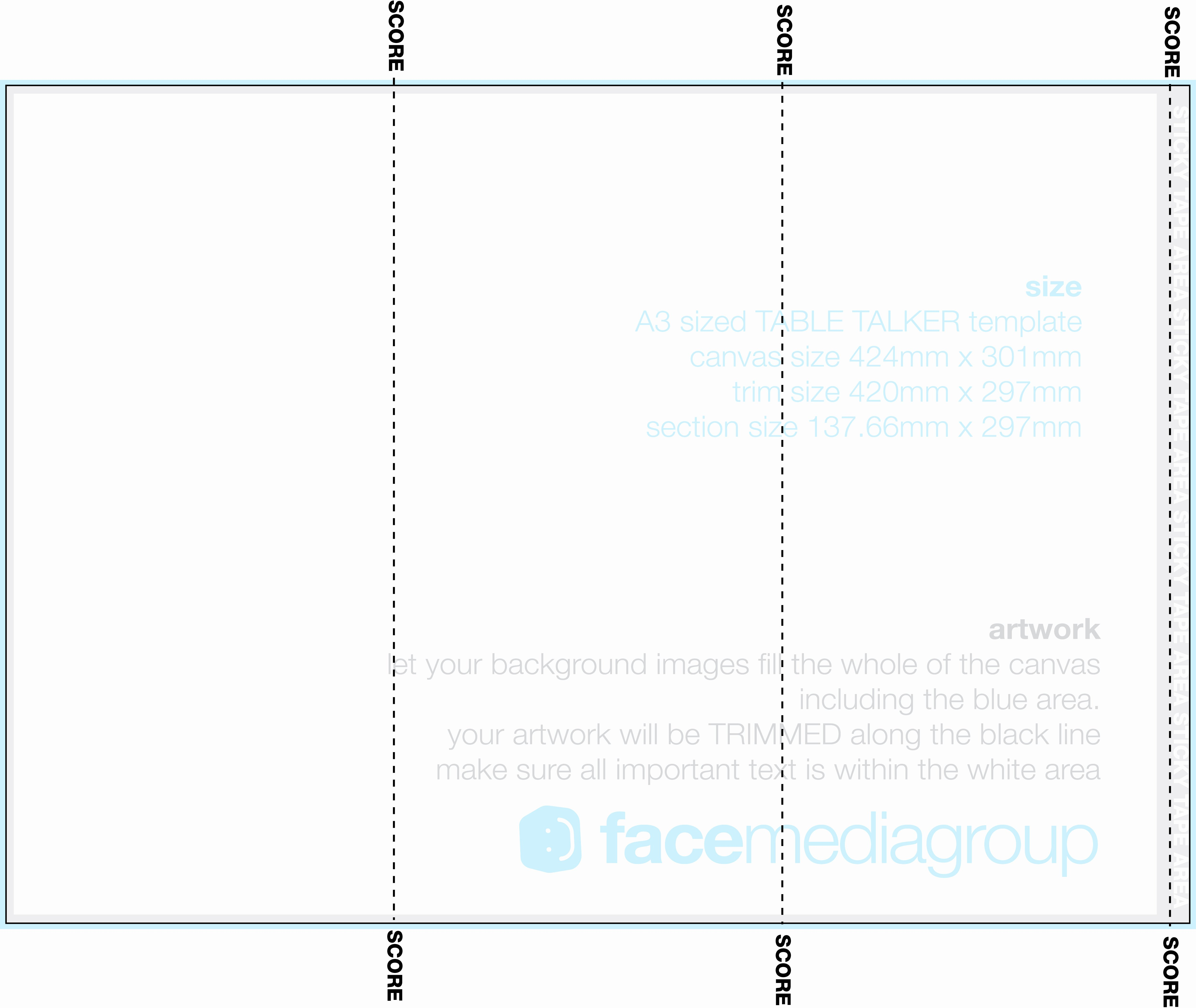 Tri Fold Table Tent Template Beautiful A3 Tri Fold Table Talker Template