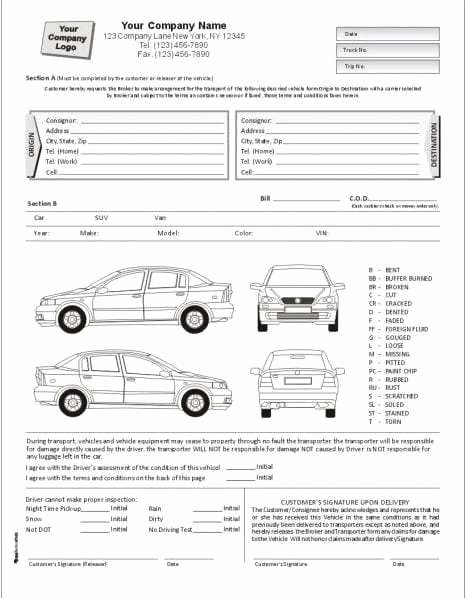 Truck Inspection form Template Awesome Vehicle Condition Report Templates Find Word Templates