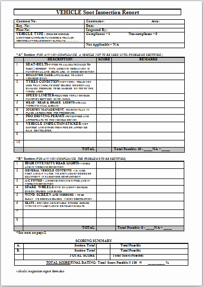 Truck Inspection form Template Inspirational Vehicle Damage Incident Inspection and Maintenance