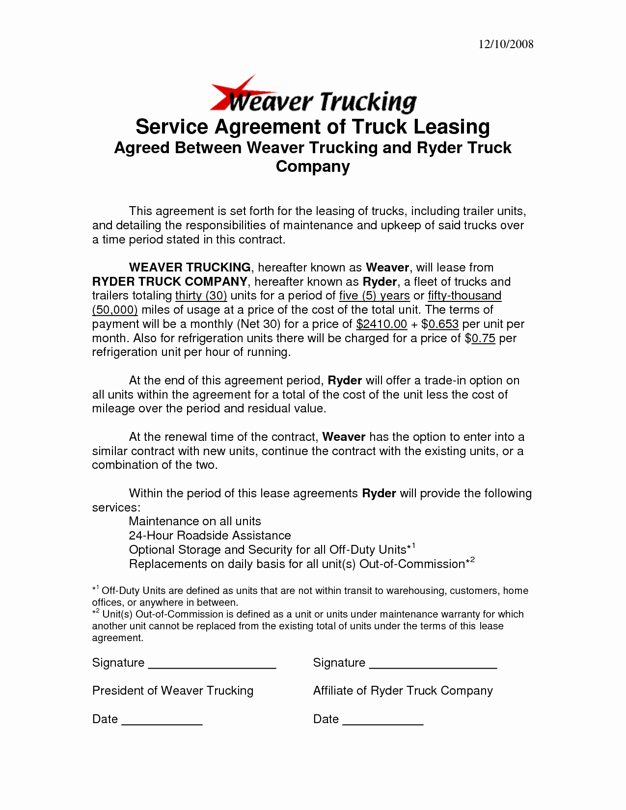 Truck Lease Agreement Template Luxury Best S Of Sample Truck Lease Pany Truck Lease