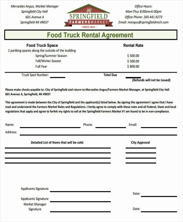 Truck Lease Agreement Template New 42 Printable Lease Agreements Word Google Docs Apple