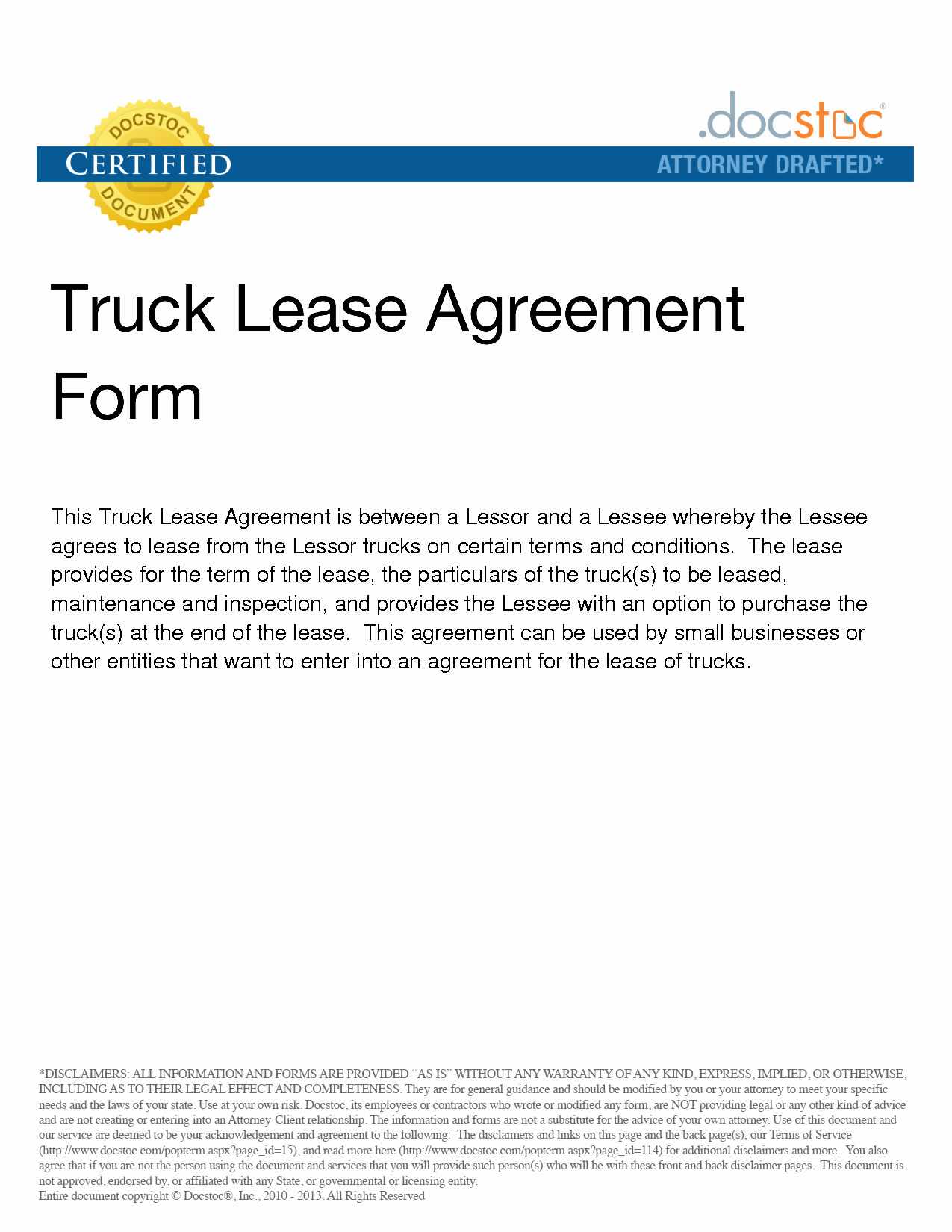 Truck Lease Agreement Template New Best S Of Sample Truck Lease Pany Truck Lease