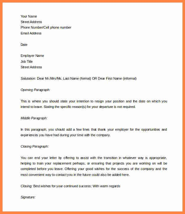 Two Weeks Notice Template Word Beautiful 10 Template for Week Notice