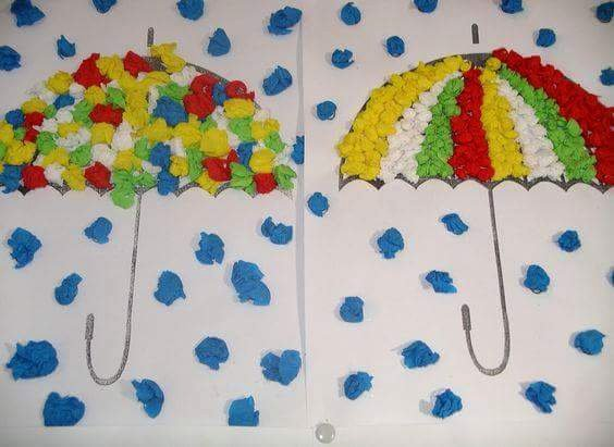 Umbrella Template for Preschool Awesome Creative Umbrella Crafts for Preschool Kindergarten 1