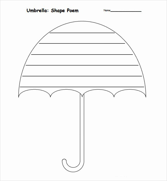 Umbrella Template for Preschool Elegant Sample Umbrella 6 Documents In Pdf