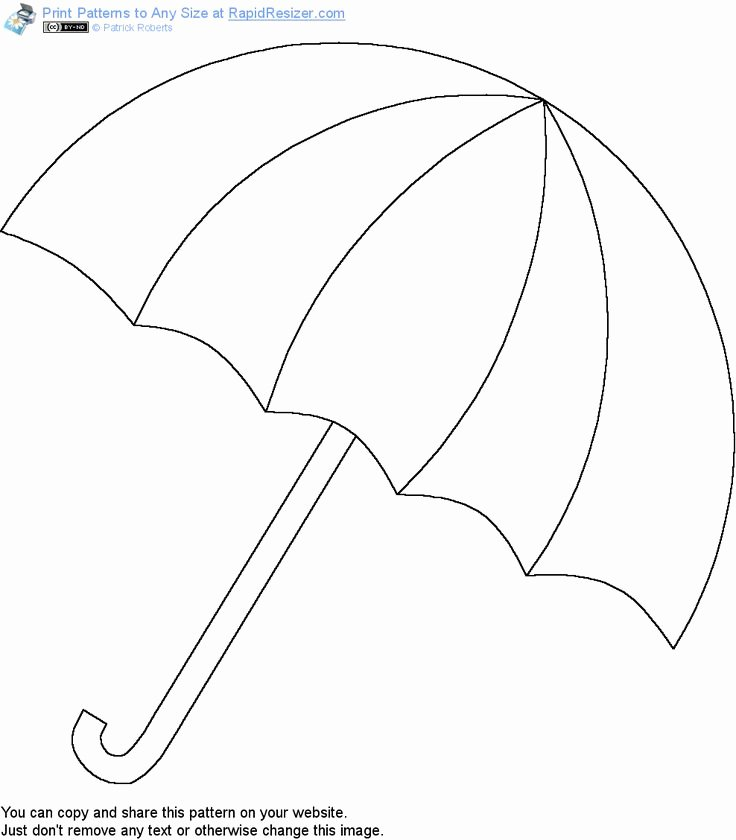 Umbrella Template for Preschool Inspirational Free Umbrella Pattern Get It and More Free Designs at