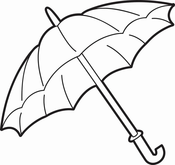 Umbrella Template for Preschool Inspirational Umbrella Coloring Page