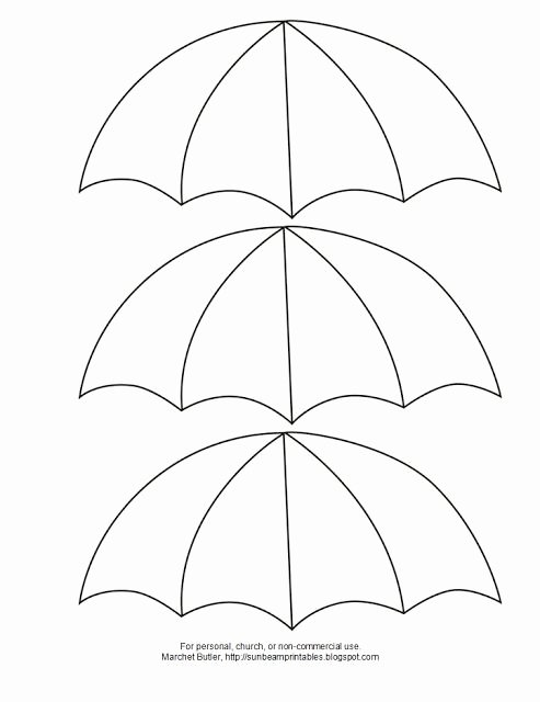 Umbrella Template for Preschool Inspirational Umbrella Winter