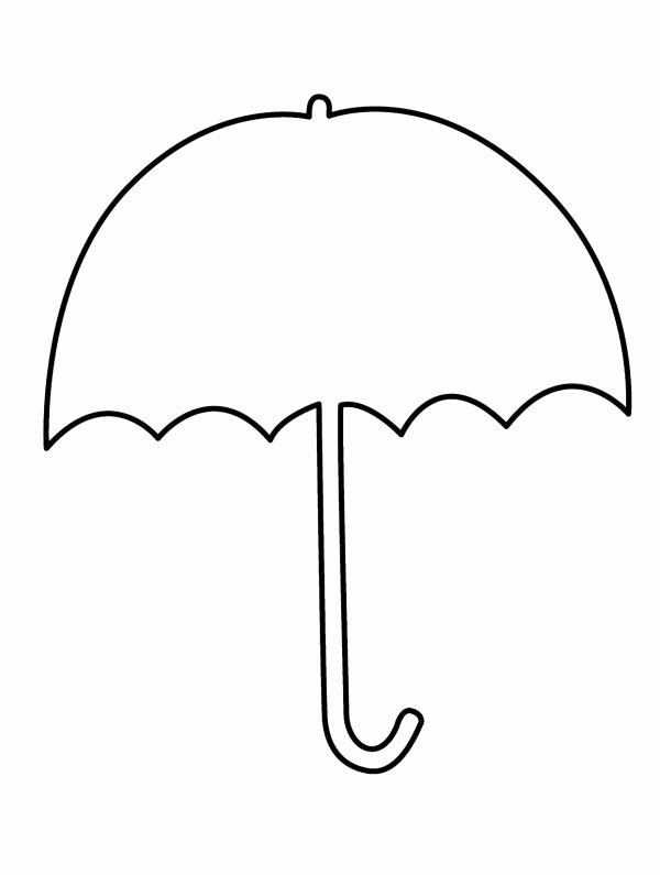 Umbrella Template for Preschool Lovely Umbrella Clipart Coloring Pages Alkuopetusideat
