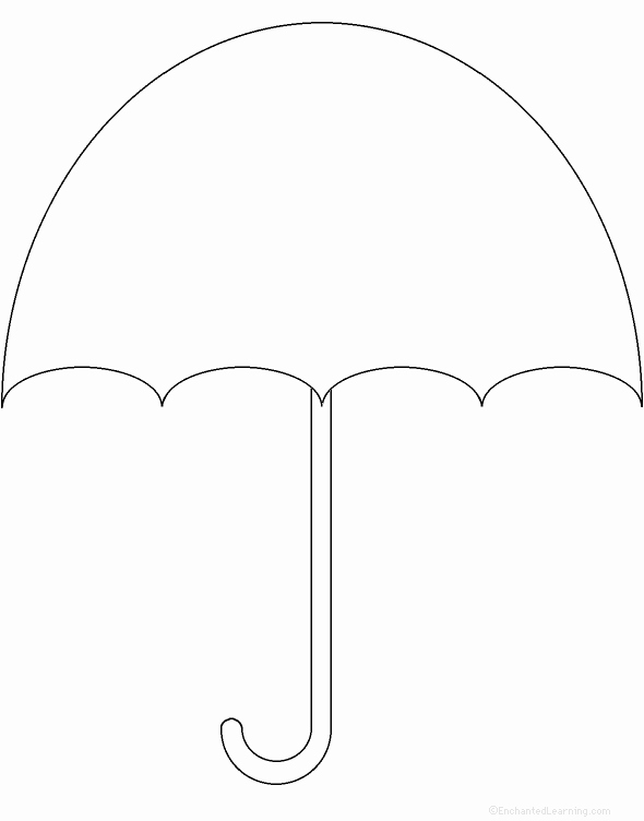 Umbrella Template for Preschool Luxury Free Printable Umbrella Template Download Free Clip Art