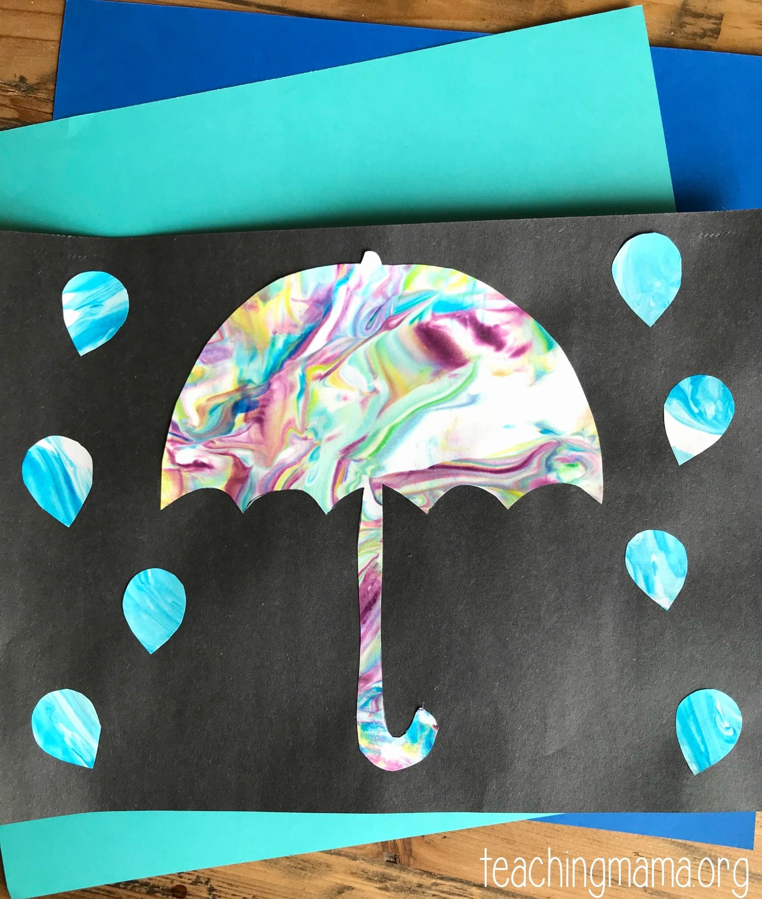 Umbrella Template for Preschool Unique Rainy Day Umbrella Craft