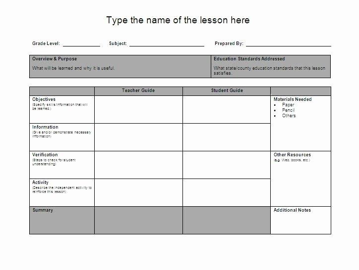 Unit Lesson Plan Templates Best Of Lesson Plan Template Google Search Education