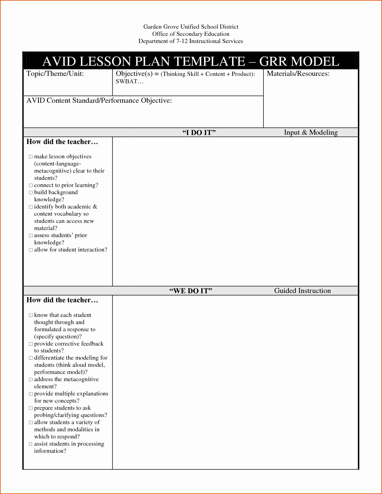 Unit Lesson Plan Templates Inspirational 8 Lesson Plan Template Doc Bookletemplate