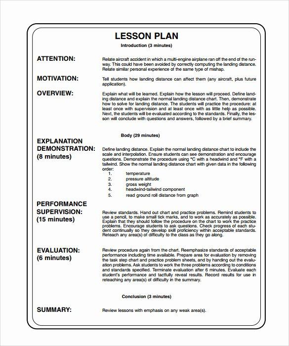 Unit Lesson Plan Templates Lovely 14 Sample Printable Lesson Plans Pdf Word Apple Pages