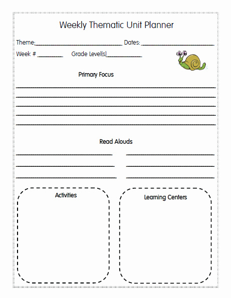 Unit Lesson Plans Template Luxury Homeschool Lesson Planner Pages