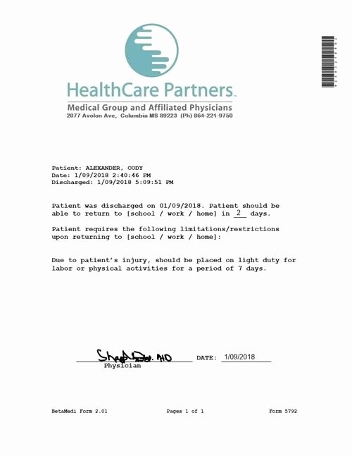 Urgent Care Doctors Note Template Awesome Pin On sometimes We Need A Day Off