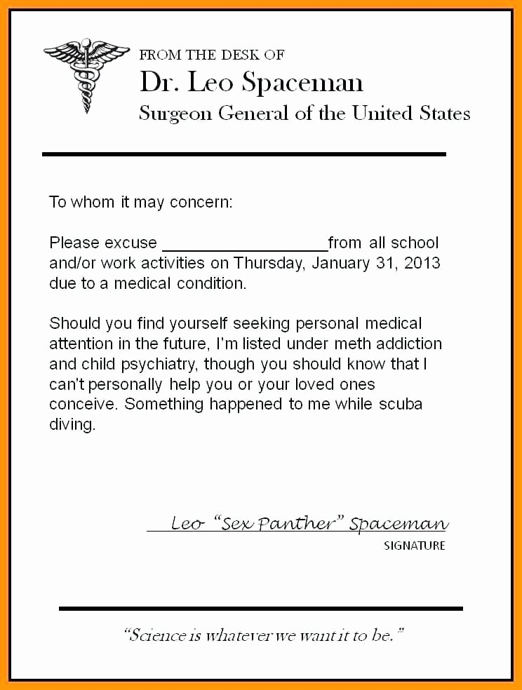 Urgent Care Doctors Note Template Luxury Urgent Care Doctors Note 4
