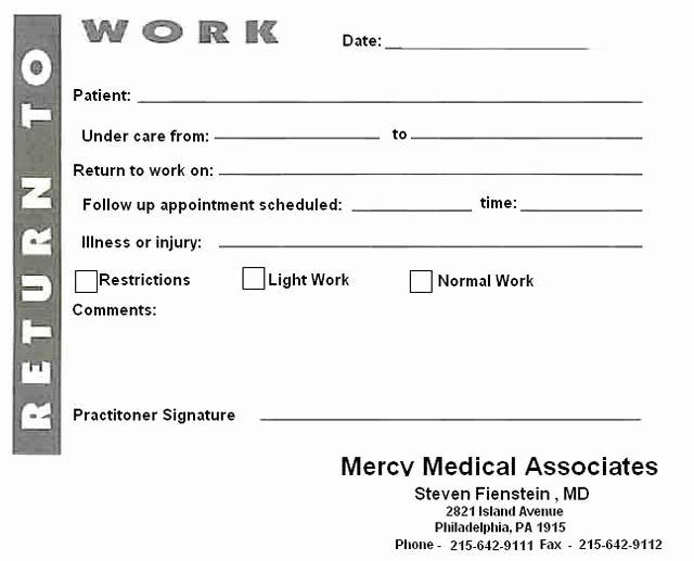 Urgent Care Doctors Note Template Unique Blank Printable Doctors Notes Avon