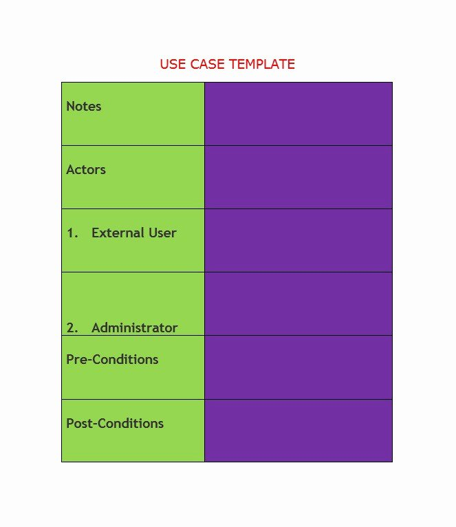 Use Case Template Examples Beautiful 40 Use Case Templates & Examples Word Pdf Template Lab
