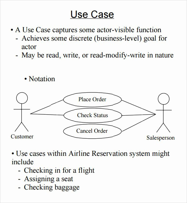 Use Case Template Examples Best Of Free 6 Use Case Samples In Word