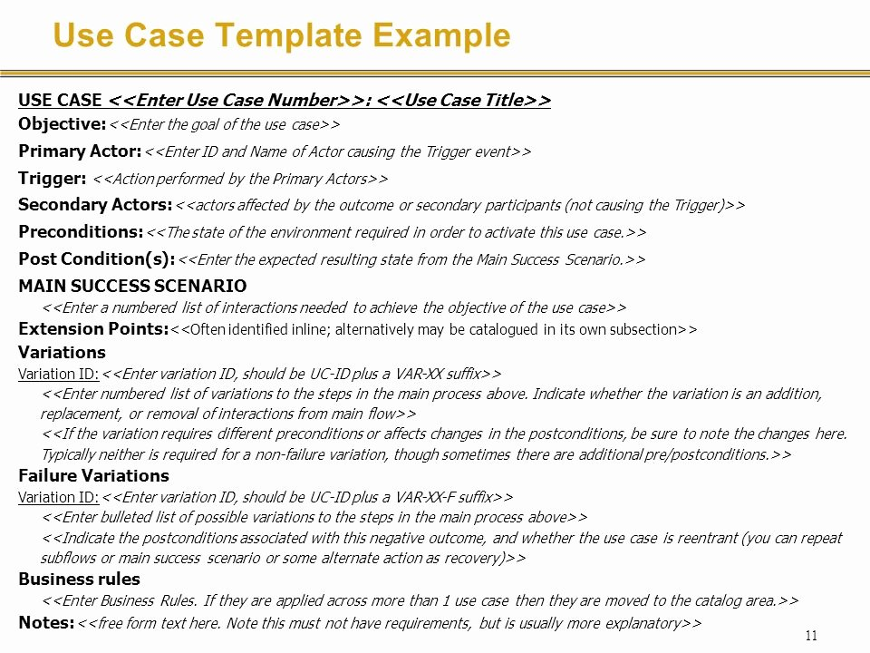 Use Case Template Examples Fresh Requirements Specification with Use Cases Ppt