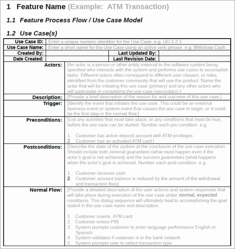 Use Case Template Excel Elegant 7 Use Case Templates Free Ppt Excel Doc Example formats