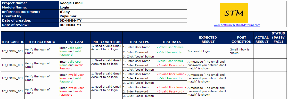 Use Case Template Excel Inspirational Test Case Template with Explanation
