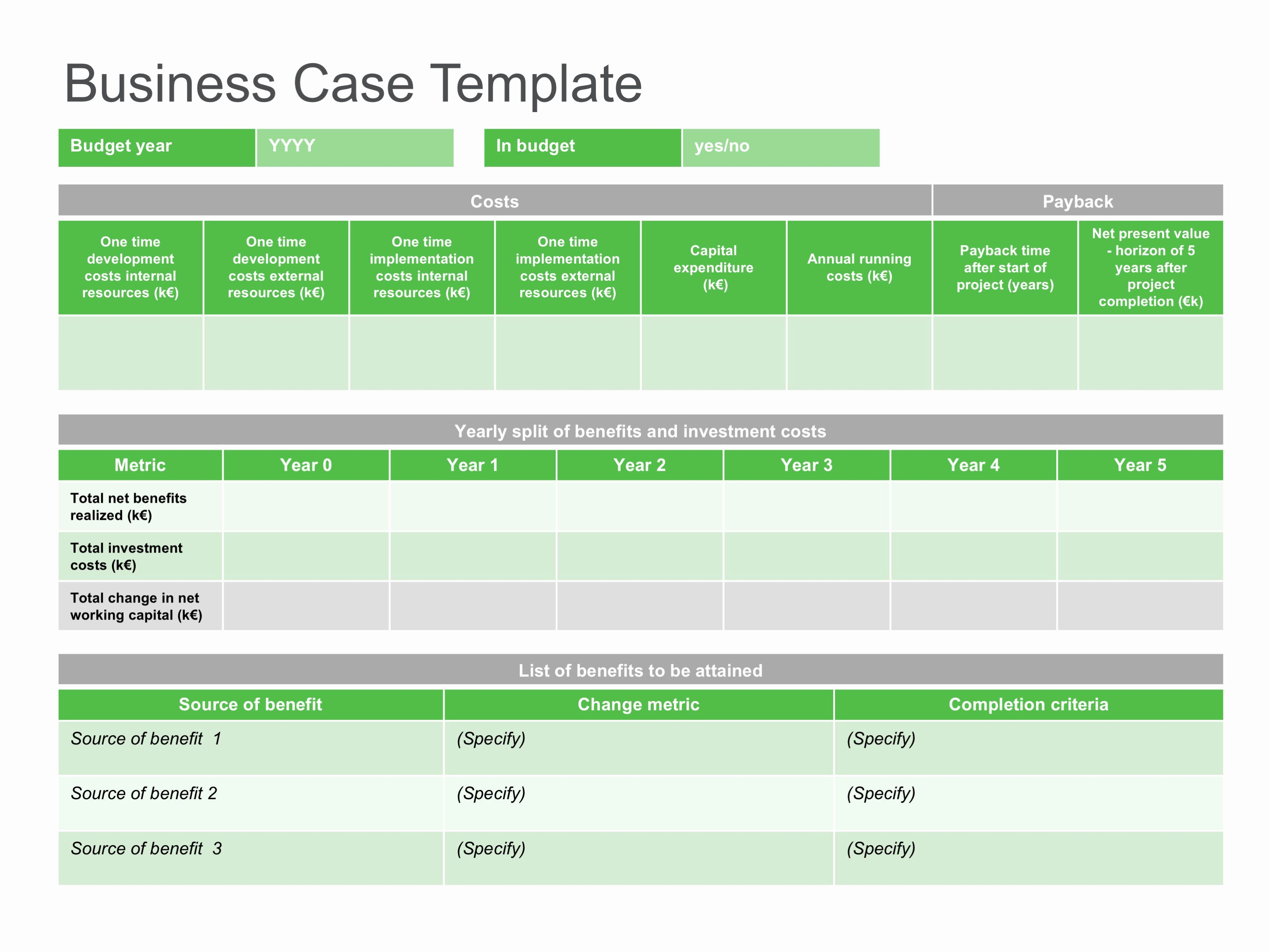 Use Case Template Excel Lovely Sample Business Case Templates – Business Case Template