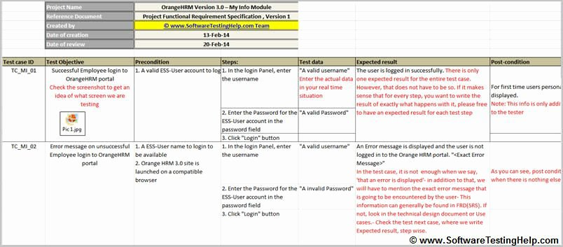 Use Case Template Excel Lovely Test Case Sample Simple Test Case with Precondition and