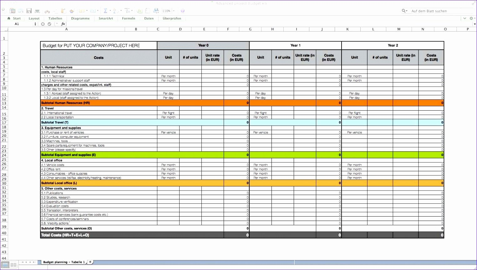 business case excel template w0255