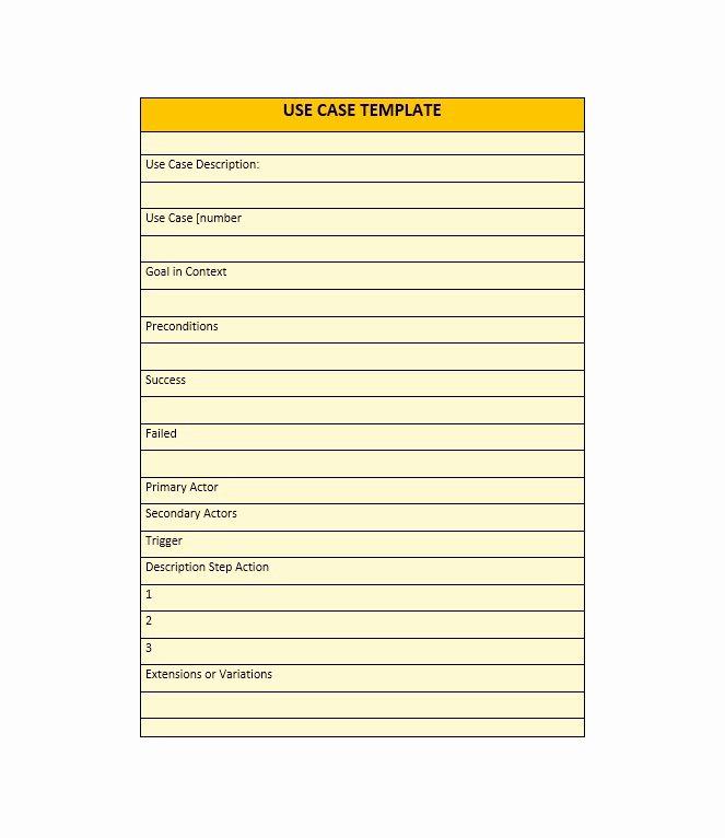 Use Case Templates Examples Elegant 40 Use Case Templates & Examples Word Pdf Template Lab