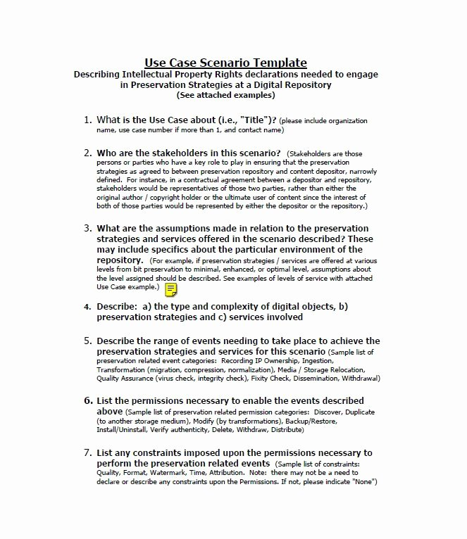 Use Case Templates Word Best Of 43 Free Use Case Templates & Examples Word Pdf Free