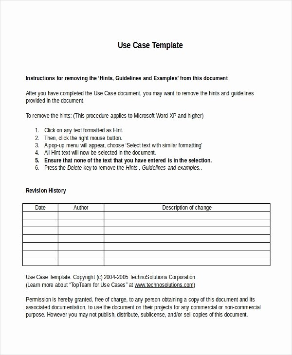 Use Case Templates Word Fresh 10 Business Case Templates Free Sample Example format
