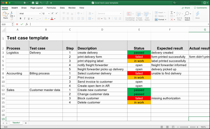 Use Cases Template Excel Beautiful Test Case Template with Sample Data Perfect for