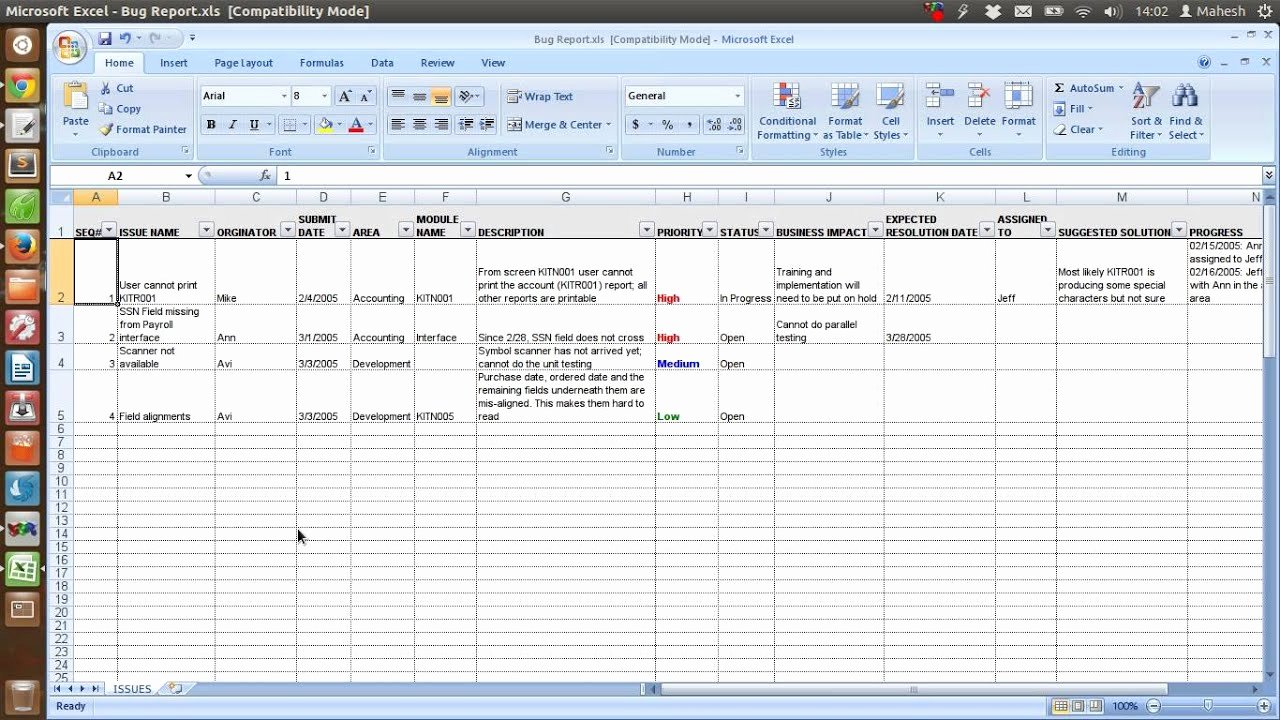 Use Cases Template Excel Lovely Defect Tracking Template Xls