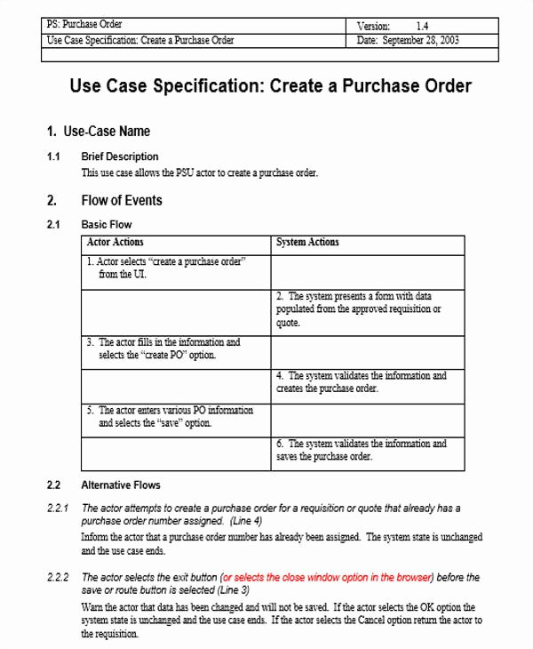 Use Cases Template Word Beautiful 17 Use Case Templates In Word