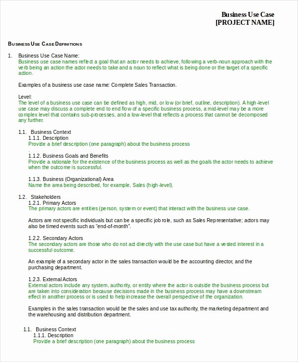 Use Cases Template Word Best Of Free Case Template 9 Free Word Pdf Documents Download