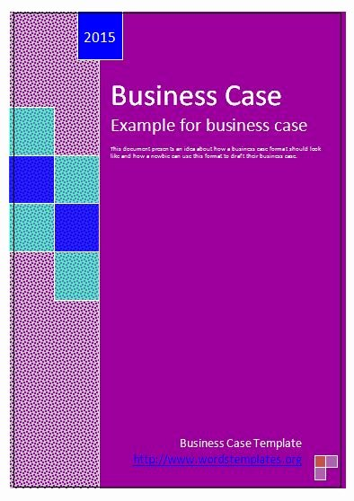 Use Cases Template Word Elegant Business Case Template